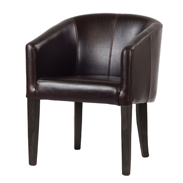 Broadway Leather Tub Chair Contract Furniture Manufacturers
