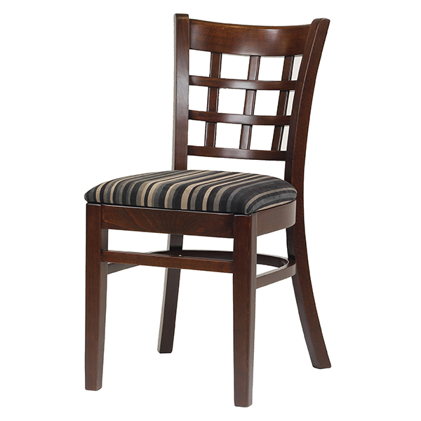 Dining Furniture Manufacturers: Solid Beech Dining Chair With Upholstered Seat