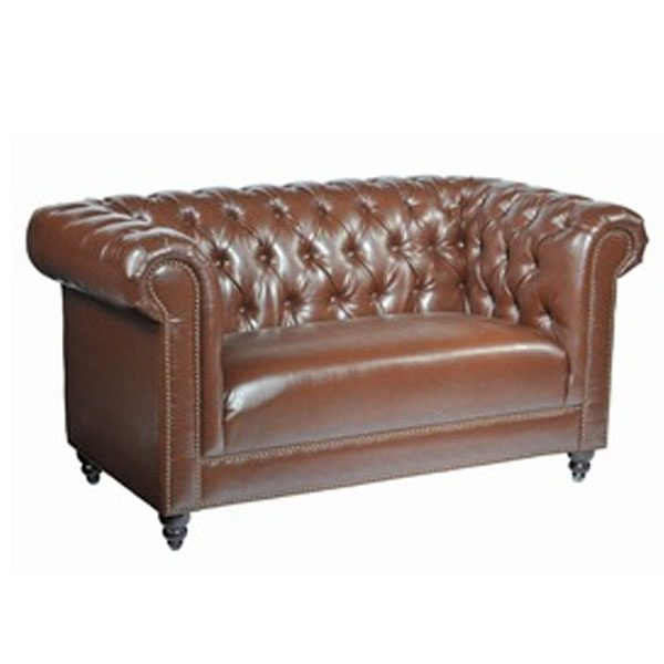 Stupendous 2 Seater Chesterfield Faux Leather Sofa Alphanode Cool Chair Designs And Ideas Alphanodeonline