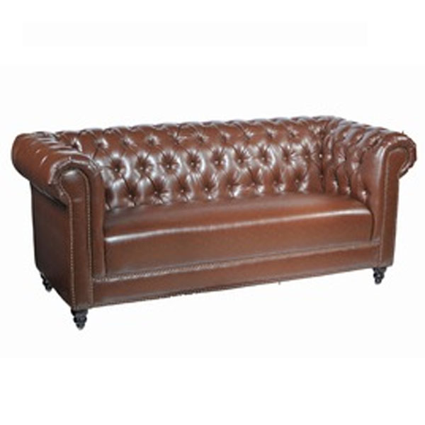 3 Seater Chesterfield Faux Leather Sofa