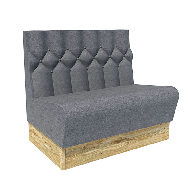 Diamond stitched low back ultimate comfort bench seating contract furniture manufacturers - Made to measure bench seating ...