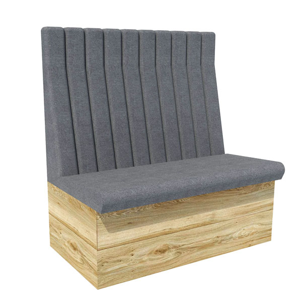 Vertical high back bench seating contract furniture manufacturers - Made to measure bench seating ...