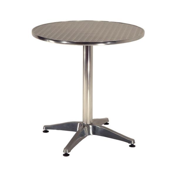 Round Alma Aluminium Bistro Outdoor Table Contract