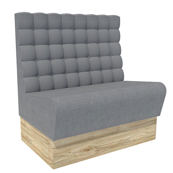 Square button high back ultimate comfort bench seating contract furniture manufacturers - Made to measure bench seating ...