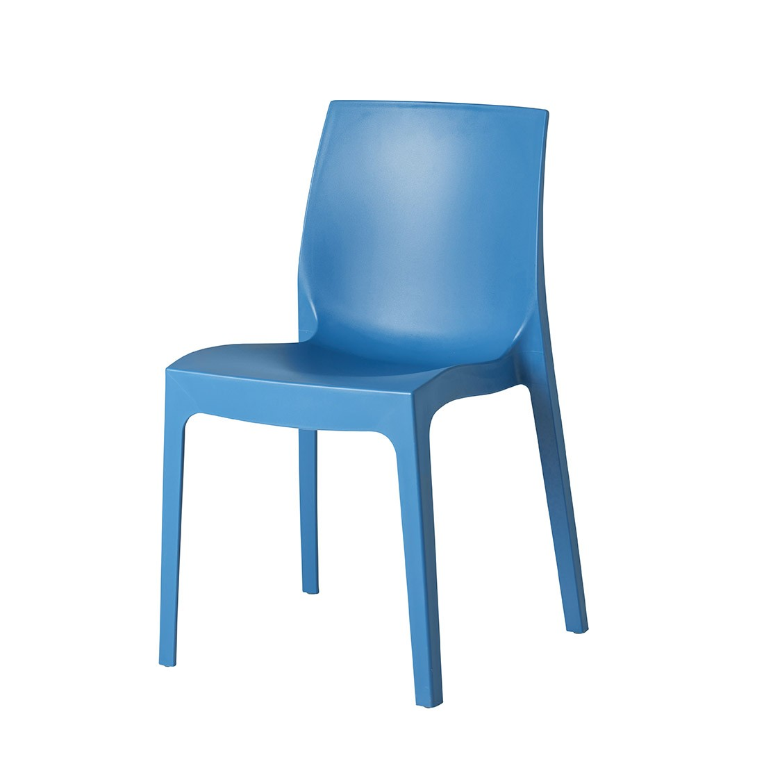 Strata Outdoor Stacking Chair Blue Contract Furniture Manufacturers